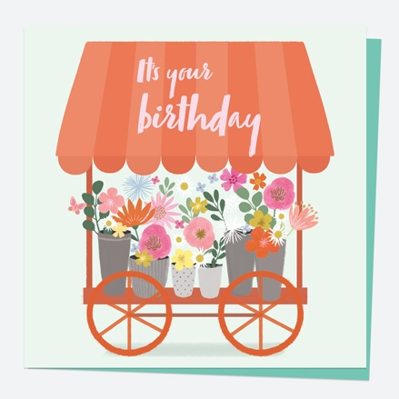 General Birthday Card - Beautiful Blooms - Cart - It's Your Birthday