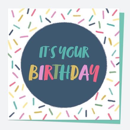 General Birthday Card - Bright Pastels - Sprinkles - Happy Birthday