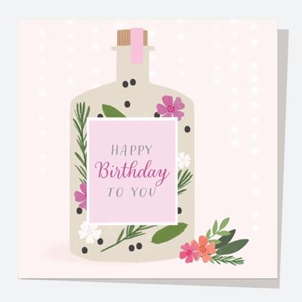 General Birthday Card - Drinks - Bottle