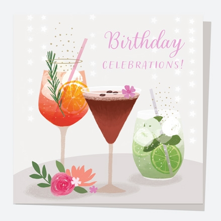 General Birthday Card - Drinks - Cocktails