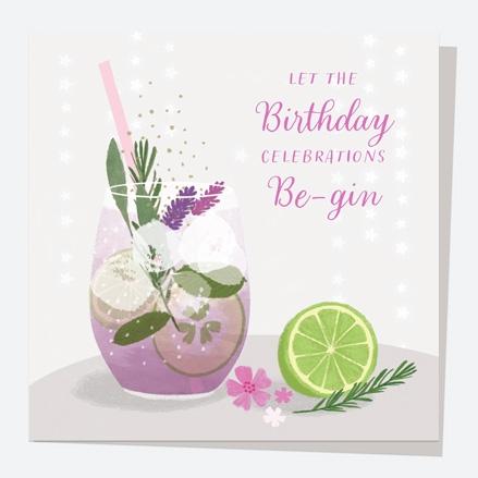 General Birthday Card - Drinks - Lavender Gin