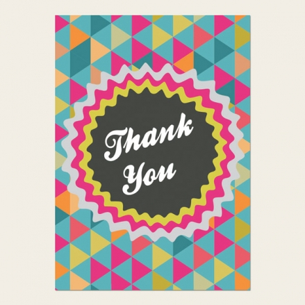 Ready to Write Thank You Cards - Geometric Pattern