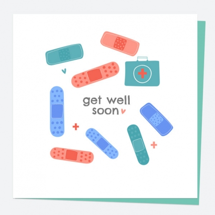 Get Well Soon Card - Plasters - Get Well Soon