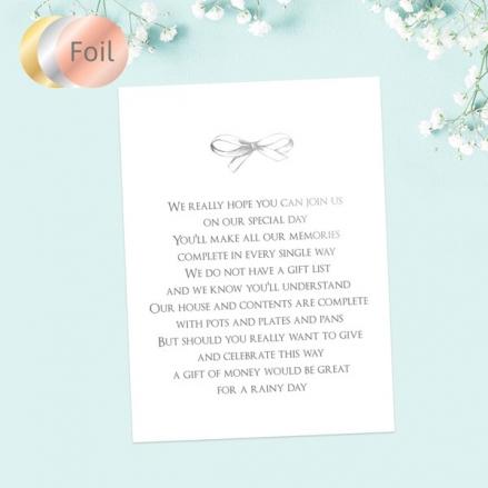 Vintage-Wedding-Car-Foil-Gift-Poem-Cards