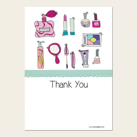 Ready to Write Kids Thank You Cards - Girls Pamper Party