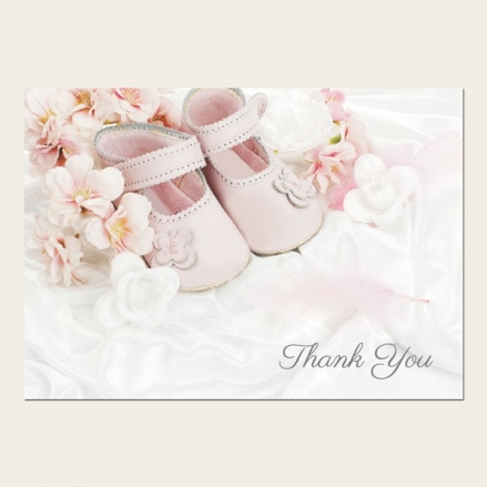 Thank You - Girls Pink Shoes - Postcard - Pack of 10