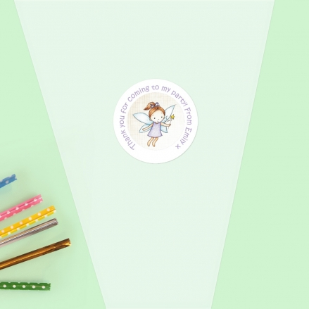 Girls Fairy - Sweet Cone Bag & Sticker - Pack of 35