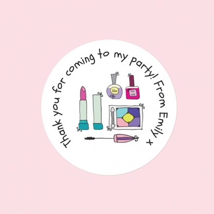 Girls Pamper Party - Sweet Bag Stickers - Pack of 35