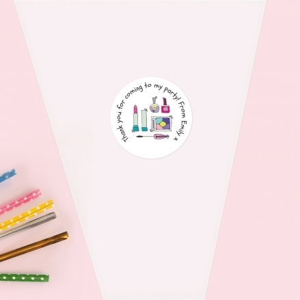 Girls Pamper Party - Sweet Cone Bag & Sticker - Pack of 35