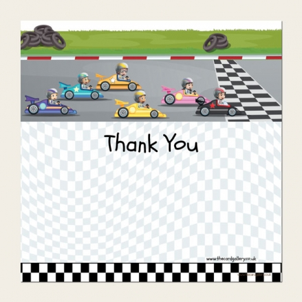 Ready to Write Kids Thank You Cards - Go Karting