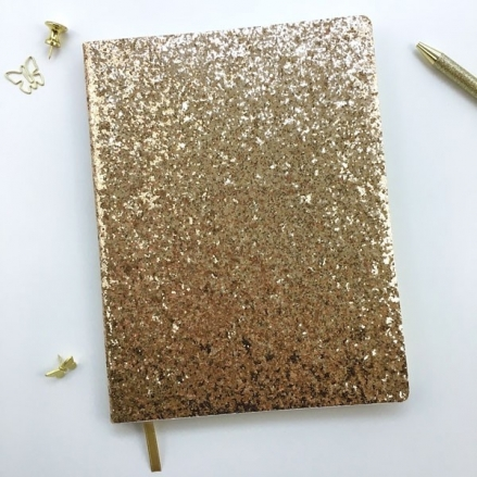 Time to Shine - Gold Glitter Journal