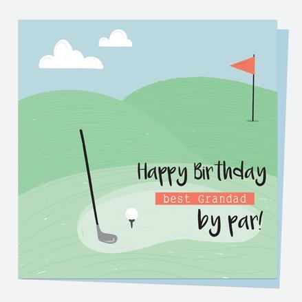 Grandad Birthday Card - Golf - Best Grandad by Par