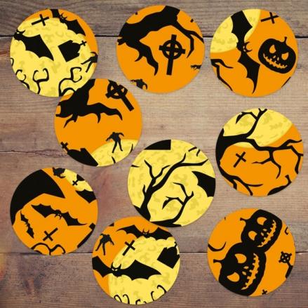 Graveyard Silhouette - Halloween Table Confetti