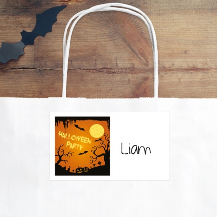 Graveyard Silhouette - Halloween Party Bag & Sticker - Pack of 10
