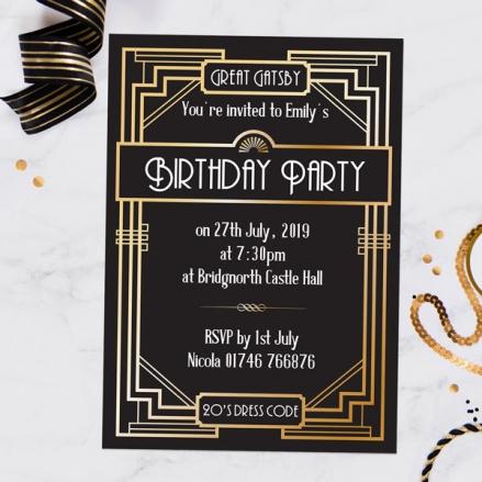 Great Gatsby - Invitations