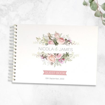 pink-roses-greenery-wedding-guest-book