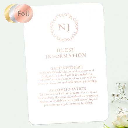 Monogram-Leaves-Foil-Guest-Information
