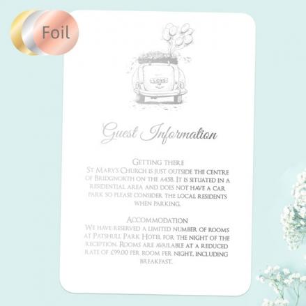 Vintage-Wedding-Car-Foil-Guest-Information