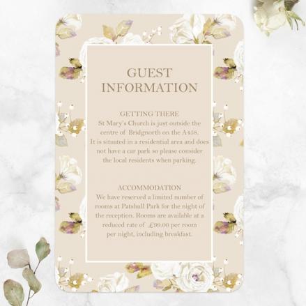 Vintage-Cream-Roses-Guest-Information-Cards