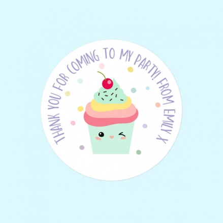 Happy Cupcakes - Sweet Cone Stickers - Pack of 35