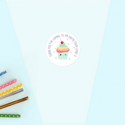Happy Cupcakes - Sweet Cone Bag & Sticker - Pack of 35