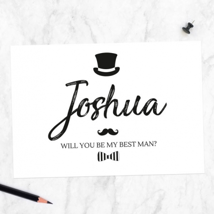 Will You Be My Best Man? - Hat Moustache