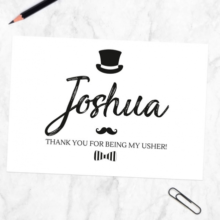 Thank You For Being My Usher - Hat Moustache