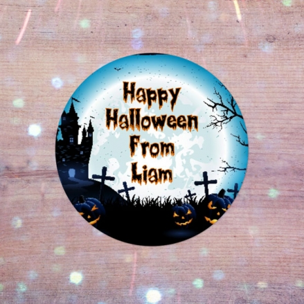 Haunted House - Halloween Sweet Cone Stickers - Pack of 35