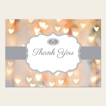 Thank You Cards - Heart Glitter Pattern