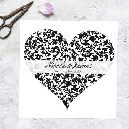 Heart Pattern - Wedding Invitations