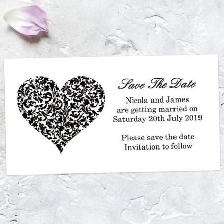 Heart Pattern - Save the Date Magnets