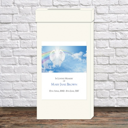 Funeral Post Box - Heavenly Rainbow