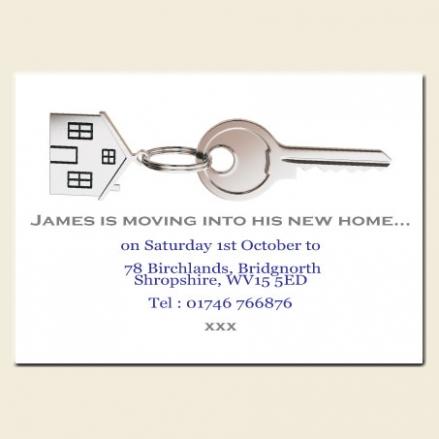 Address Cards - House Keyring - Pack of 10