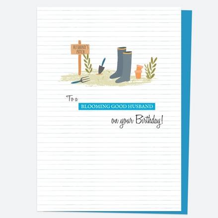 Husband Birthday Card - Garden Patch - Blooming Good Husband