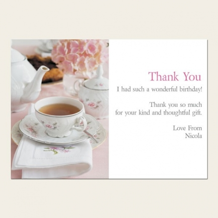 Thank You Cards - Hydrangea Afternoon Tea