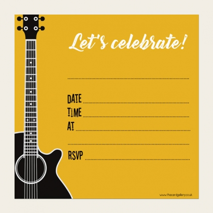 Birthday Invitations - Guitar, Live Music