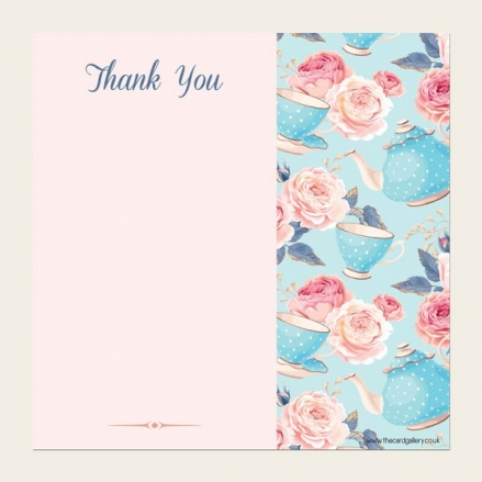 Ready to Write Thank You Cards - Teapots & Roses