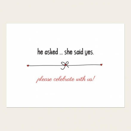 Engagement Invitations - He Asked, She Said Yes