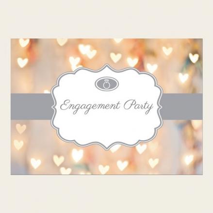 Engagement Invitations - Heart Glitter Pattern