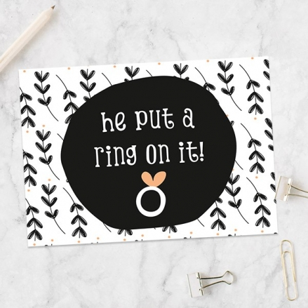 Engagement Party Invitations - He Put a Ring on it!