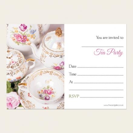 Tea Party Invitations - Vintage China