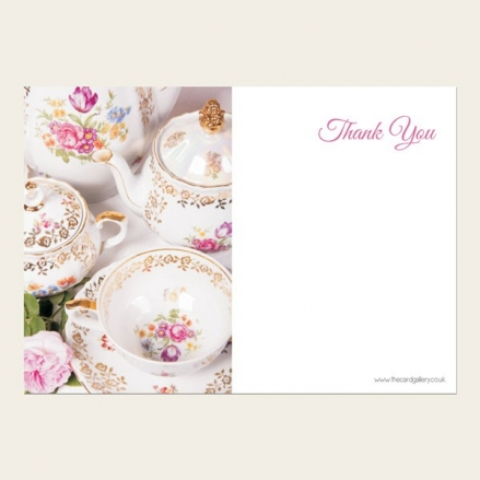 Ready to Write Thank You Cards - Vintage China