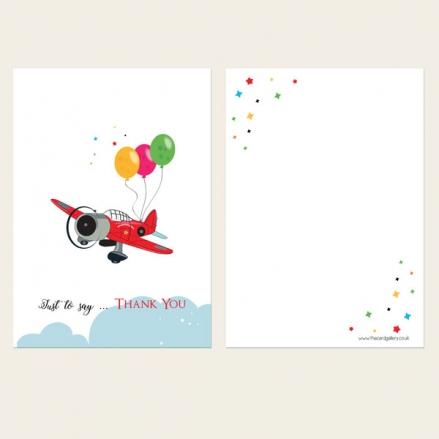 Ready to Write Kids Thank You Cards - Boys Aeroplane