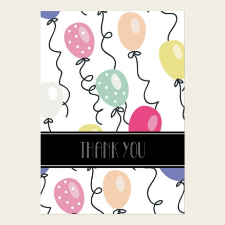 Ready to Write Thank You Cards - Balloon Party
