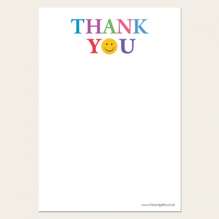 Emoji - Kids Thank You Notelet - Pack of 20