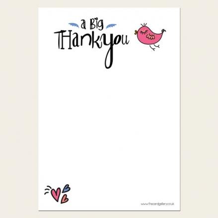Tweet Tweet - Thank You Notelet - Pack of 20