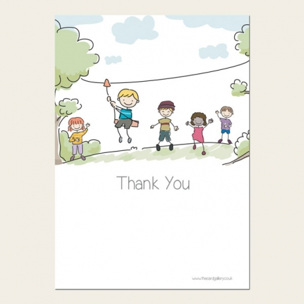 Ready to Write Kids Thank You Cards - Adventure Party
