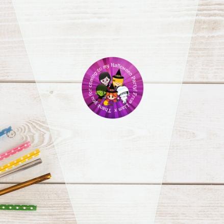 Kids Halloween - Halloween Sweet Cone Bag & Sticker - Pack of 35