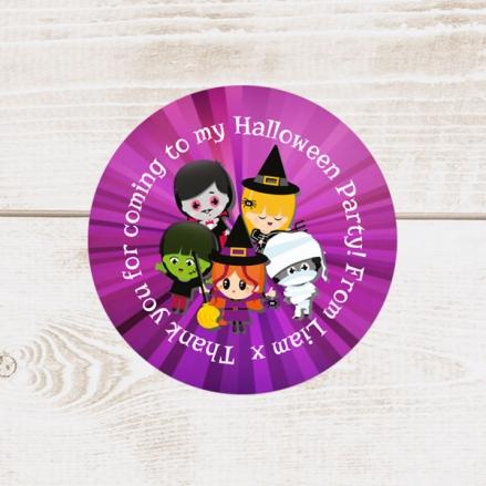 Kids Halloween - Halloween Sweet Cone Stickers - Pack of 35