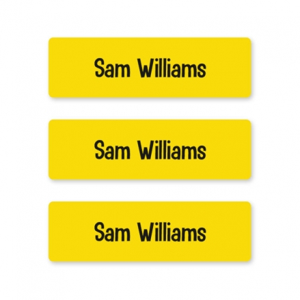 kids-pens-stationery-small-personalised-name-labels-yellow